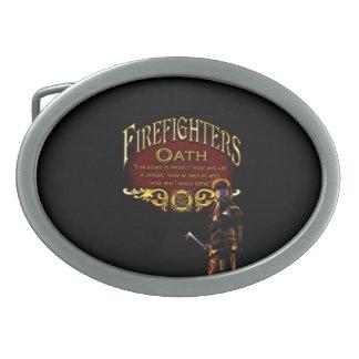 Firefighters Oath Oval Belt Buckles