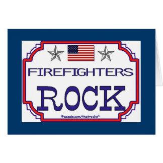 Firefighters Rock Card