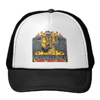 Firefighters Rock Guitar Hats