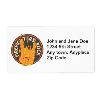 Firefighters Rock! Shipping Label