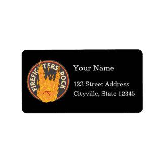 Firefighters Rock! Address Label