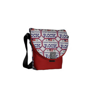 Firefighters Rock Messenger Bags