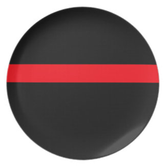 Firefighter's Thin Red Line Plate