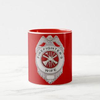 Firefighter's Wife Badge Two-Tone Coffee Mug