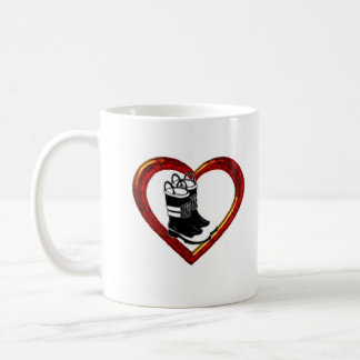 Firefighters_Wife, heart, boots, Married to, My... Coffee Mug