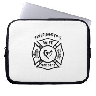 Firefighters Wife Maltese Heart Laptop Sleeve