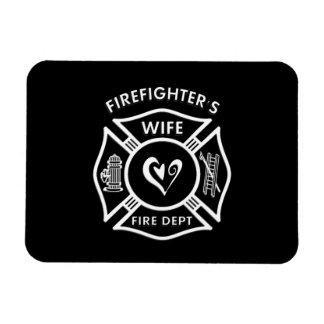 Firefighters Wife Maltese Heart Magnet