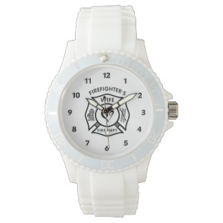 Firefighters Wife Maltese Heart Watch