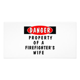 Firefighters Wife Property Personalized Photo Card