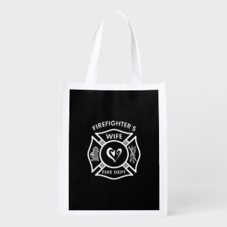 Firefighters Wife Reusable Grocery Bag