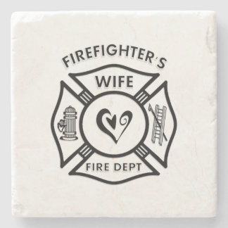 Firefighters Wife Stone Coaster