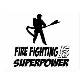 Firefighting designs postcard