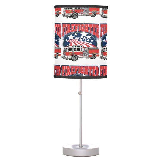 Firefighting Truck Table Lamp