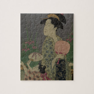 Fireflies, 1793 (colour woodcut) jigsaw puzzle