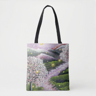 Fireflies and Dogwoods Tote Bag