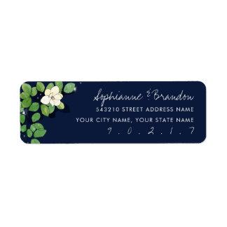 Fireflies and Magnolias in the Garden Sticker Return Address Label