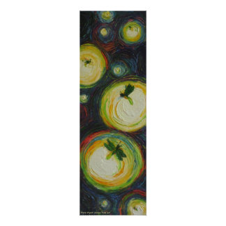 Fireflies at Night Fine Art Poster