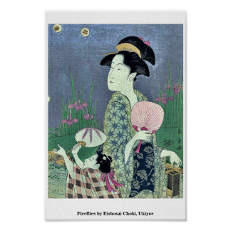 Fireflies by Eishosai Choki, Ukiyoe Poster