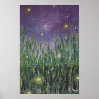 Fireflies Canvas Poster Print