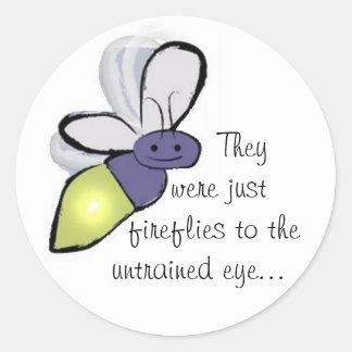 Fireflies Classic Round Sticker