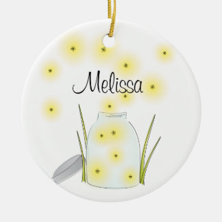 Fireflies Flying Ceramic Ornament