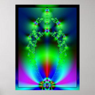 Fireflies Fractal Poster