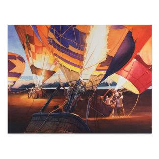 """""""Fireflies"""" Hot Air Balloons At Sunrise Postcard"""