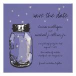 Fireflies & Mason Jar Save the Date