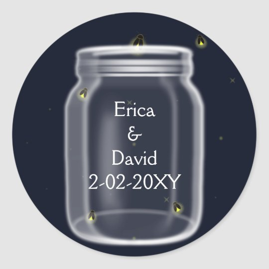 fireflies mason jar wedding seals