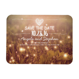 Fireflies Nature Whimsical Save the Date Magnet