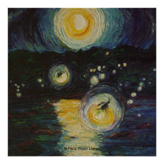 Fireflies Over the Susquehanna Fine Art Poster