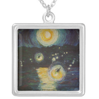 Fireflies Over the Susquehanna Necklace