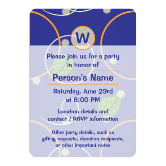 Fireflies Over Water Party Invitation