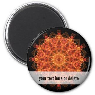 Fireflower Kaleidoscope Magnet