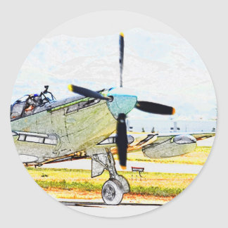 Firefly AS-6 rendering Aviation Art Round Sticker