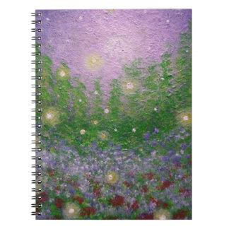 Firefly Landscape Art Notebook   Journal