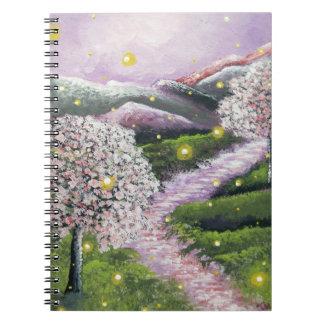 Firefly Landscape Spiral Notebook   Journal