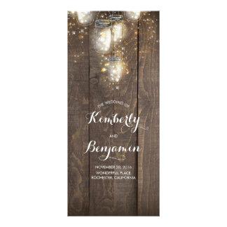 Firefly Lights Mason Jars Rustic Wedding Programs