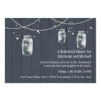 Firefly Mason Jar Rustic Country Night Weddings Card