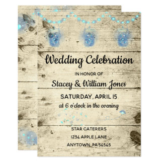 Firefly & String Lights Wedding Celebration Card