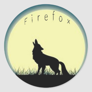 Firefox Classic Round Sticker