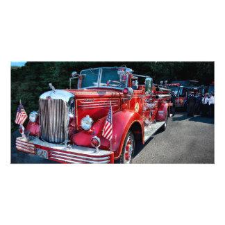 Fireman - 1949 and it still runs photo greeting card