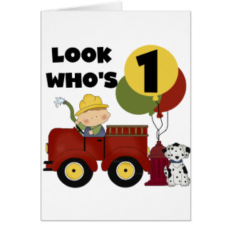 Fireman 1st Birthday Tshirts and Gifts Cards