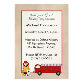 Fireman Birthday Invitation