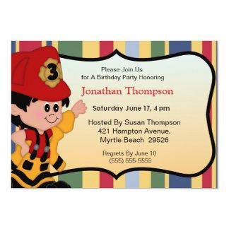 Fireman Birthday Invitations
