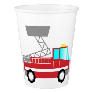 Fireman birthday paper cups | Fire truck