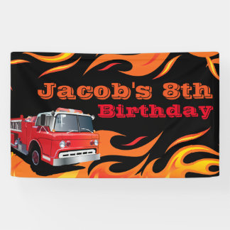Fireman Birthday Party Banner