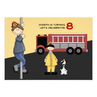 Fireman Birthday Party Invitation