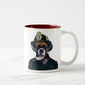 Fireman Boxer Dog Mug