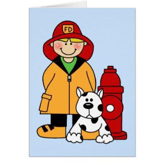Fireman (Boy) Note Card